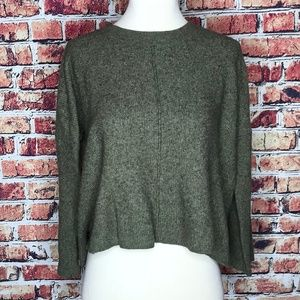Madewell Hunter Green Cropped Sweater